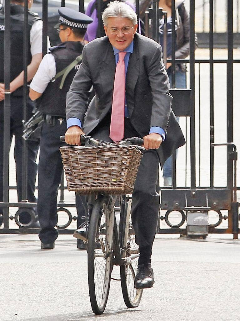 Andrew Mitchell was prevented from riding his bicycle through the gates of Downing Street