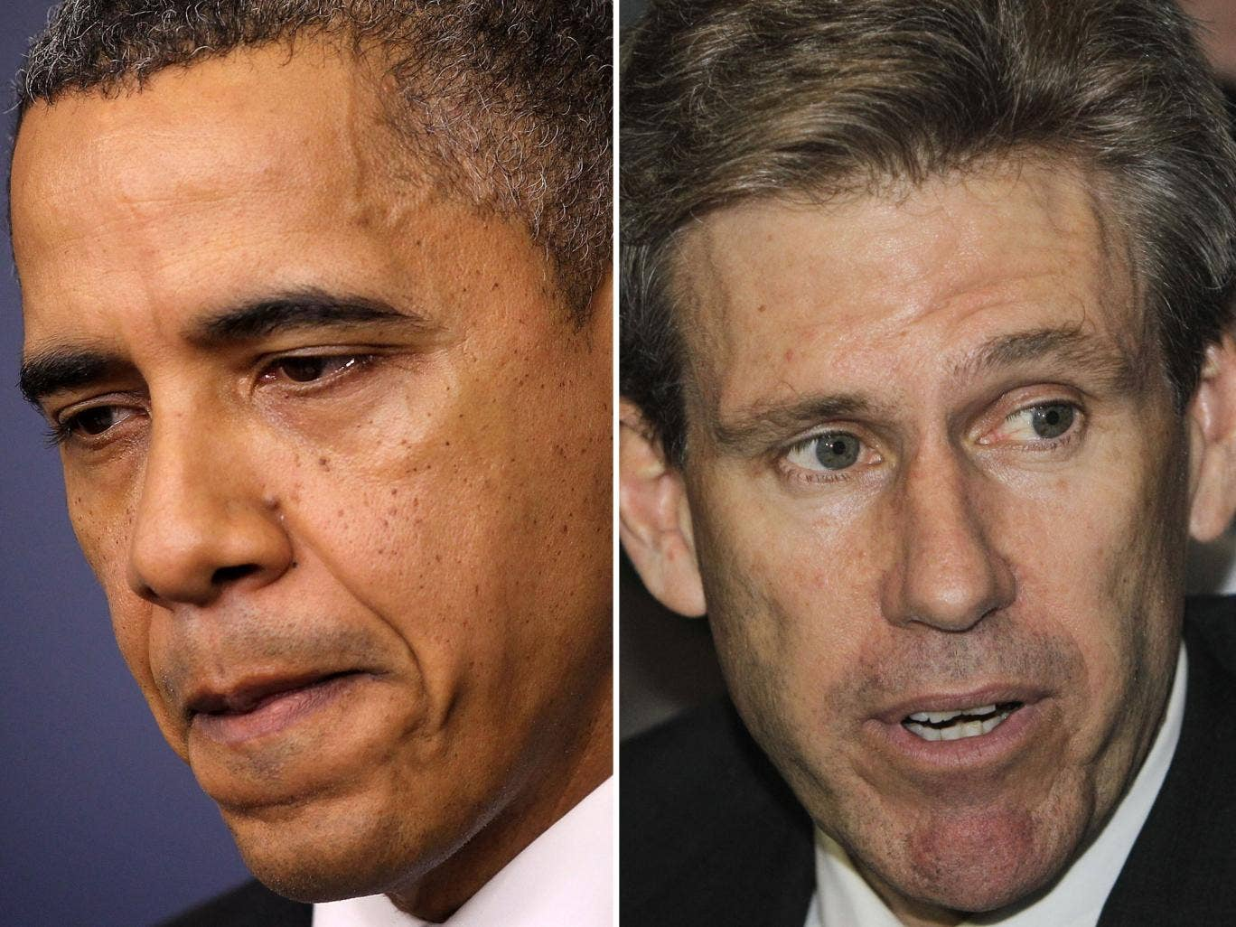 The Obama administration has been blamed for the blunders that led to the death of the US Ambassador to Libya, Chris Stevens (right), in Benghazi earlier this year