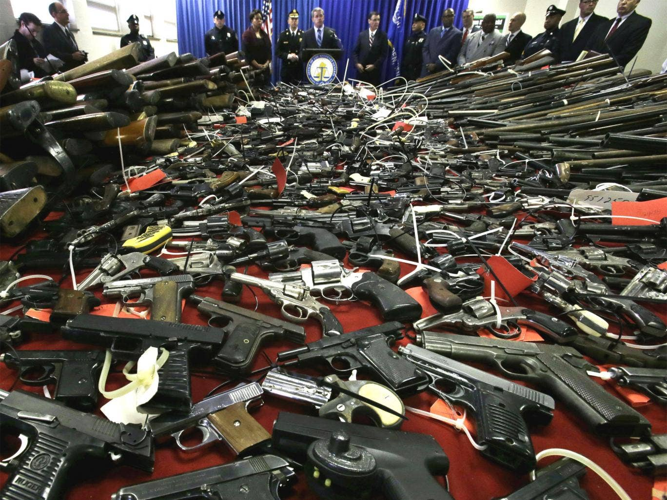 Gun buy-backs, such as this one launched in New Jersey last weekend, have taken thousands of weapons off the streets