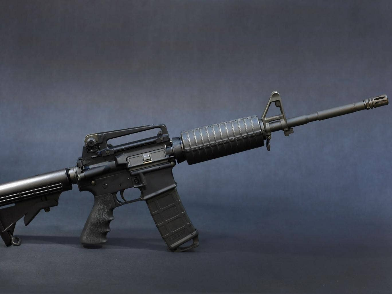 A Rock River Arms AR-15 rifle. The weapon is similar in style to the Bushmaster AR-15 rifle that was used during a massacre at an elementary school in Newtown, Connecticut. Firearm sales have surged recently as speculation of stricter gun laws and a re-in