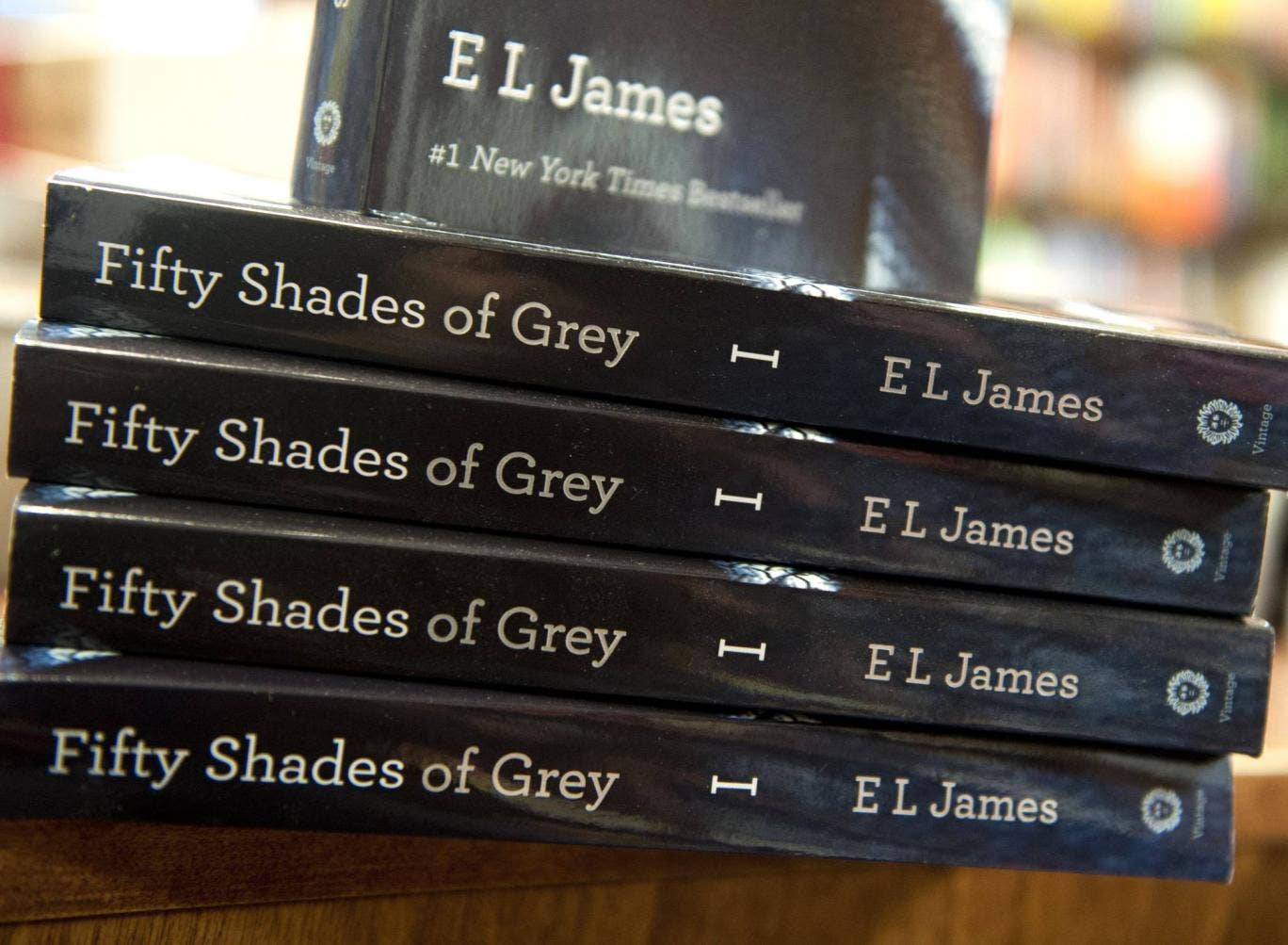 11 March 2012: Erotic romance novel Fifty Shades of Grey, by previously unknown British author EL James, topped the New York Times best-seller list.  A limited print run of the book, the first of a trilogy, sold out while the majority of sales were e-book