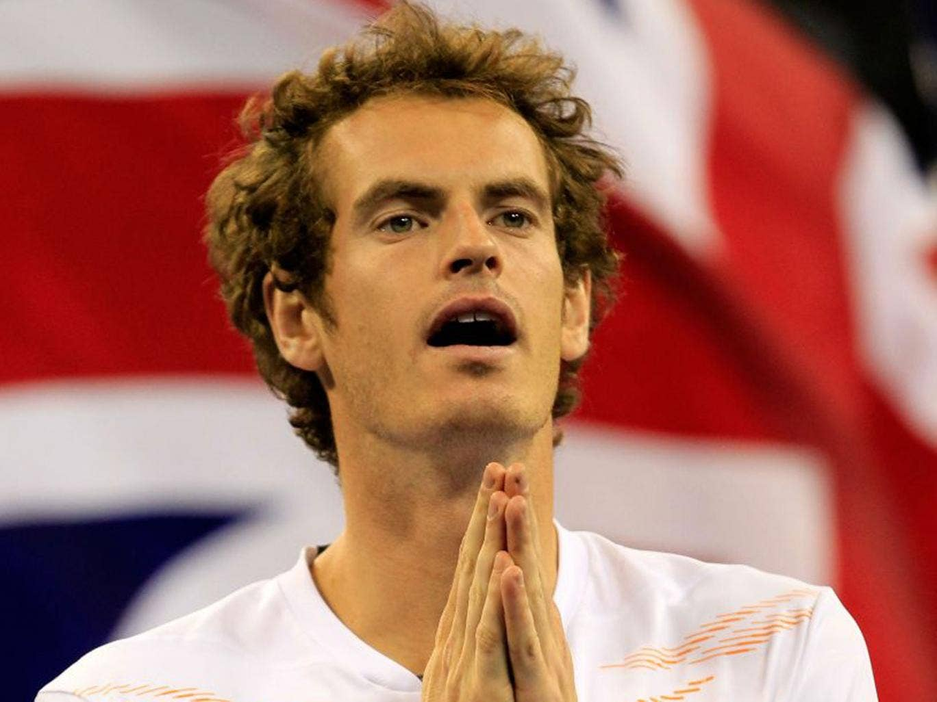 Andy Murray reacts to winning the US Open in New York in September