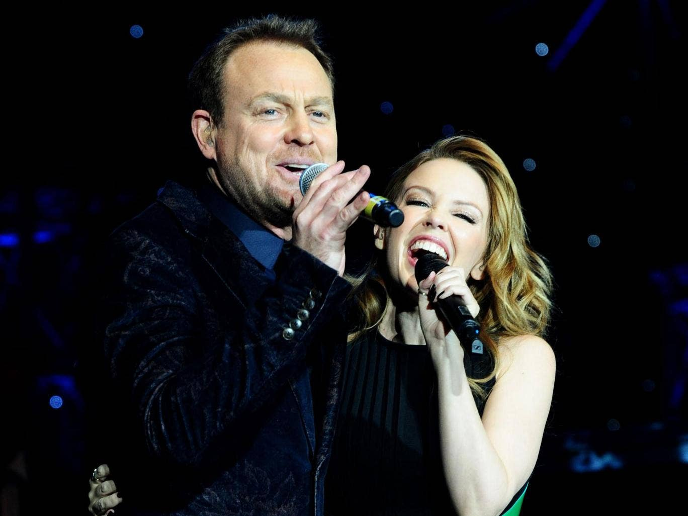 Together again: Jason Donovan and Kylie Minogue