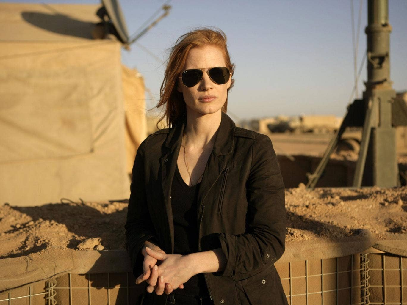 On the hunt: Jessica Chastain stars as CIA agent Maya in action thriller, Zero Dark Thirty