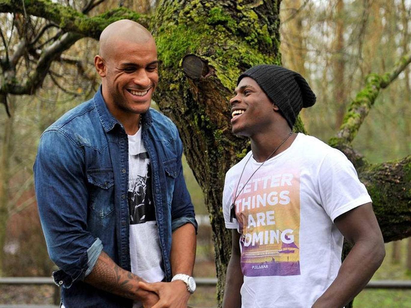 Roots and branch: Tom Varndell (left) and Christian Wade are room-mates, dine at Nando's and go on holiday together