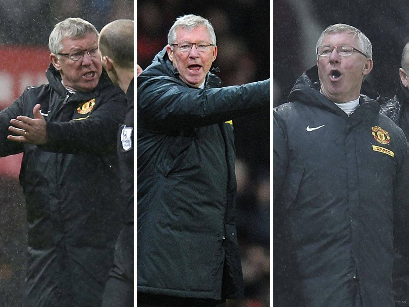 Sir Alex Ferguson escaped unpunished for remonstrating with match-day officials on Wednesday