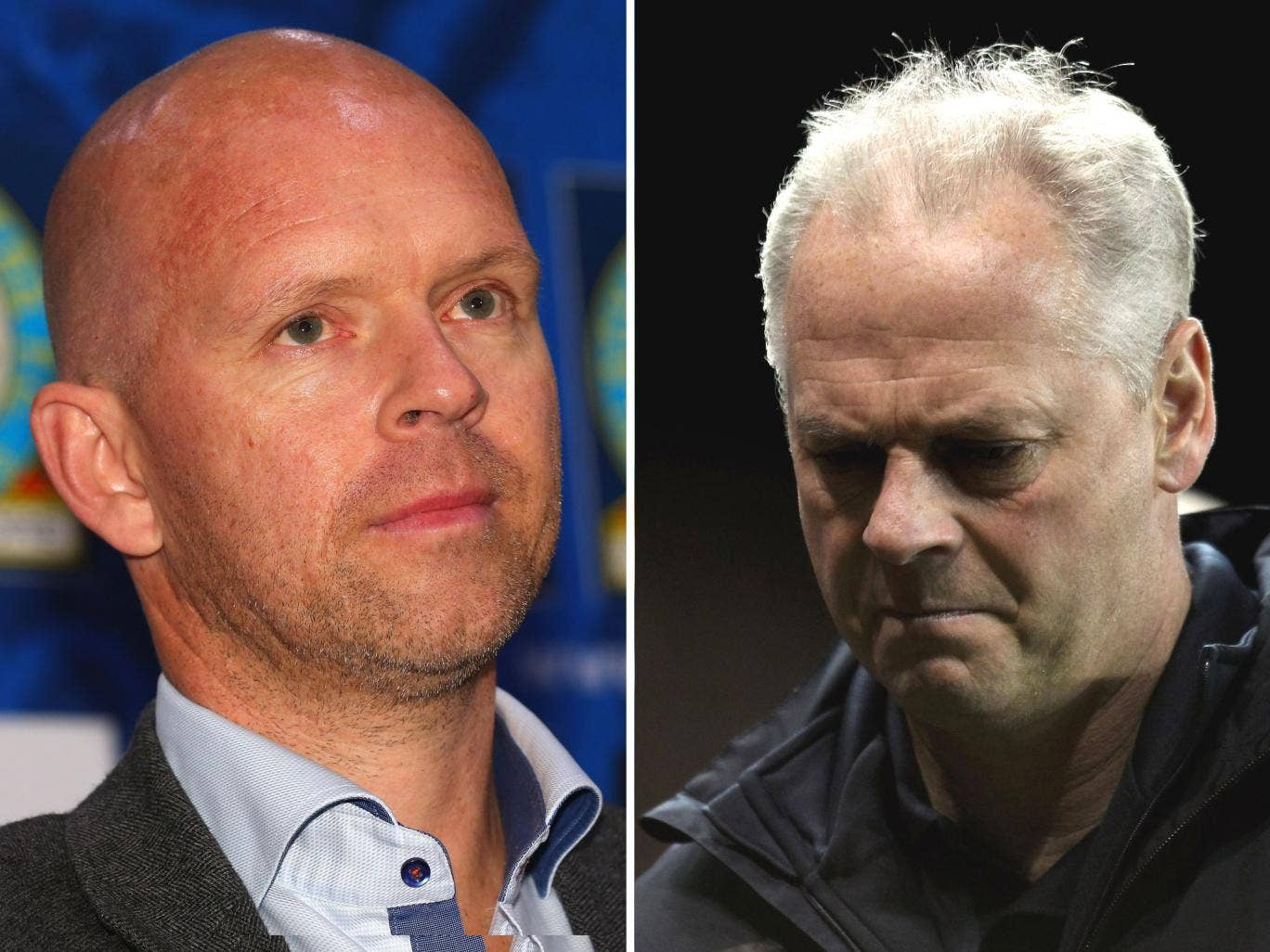 Henning Berg (left) was sacked yesterday, leaving the position of manager open. Little-known coach Judan Ali will take over the running of Blackburn Rovers alongside Kevin McDonald (right)