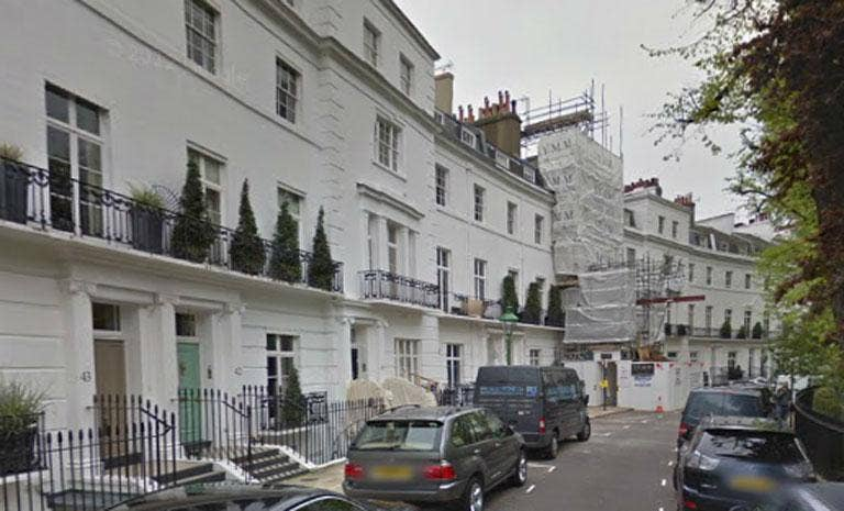 Residents in leafy Egerton Crescent paid over 32.5 times the average UK house price.