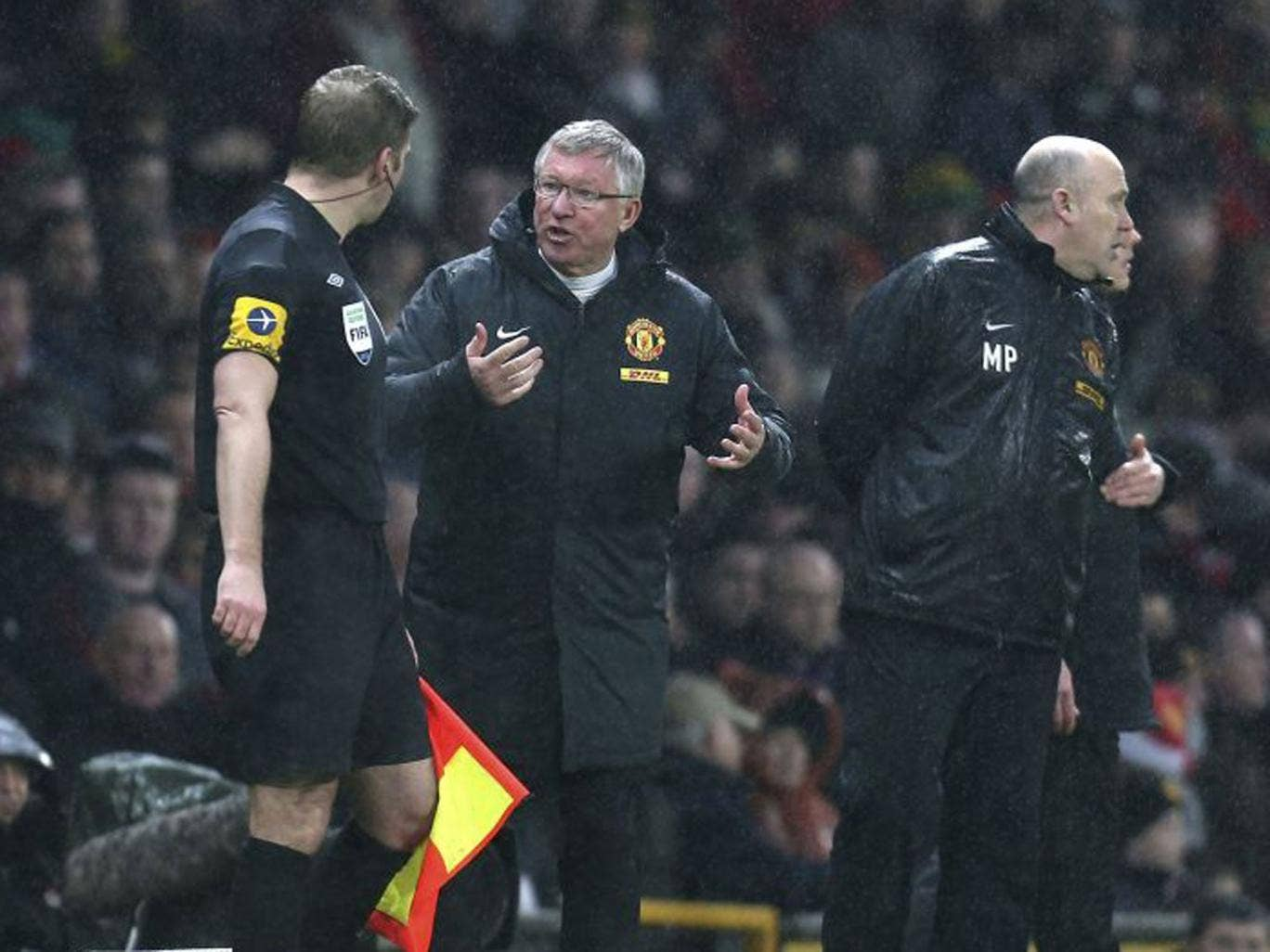 Sir Alex Ferguson in a monstrous mood during Manchester United's victory over Newcastle United on Boxing Day