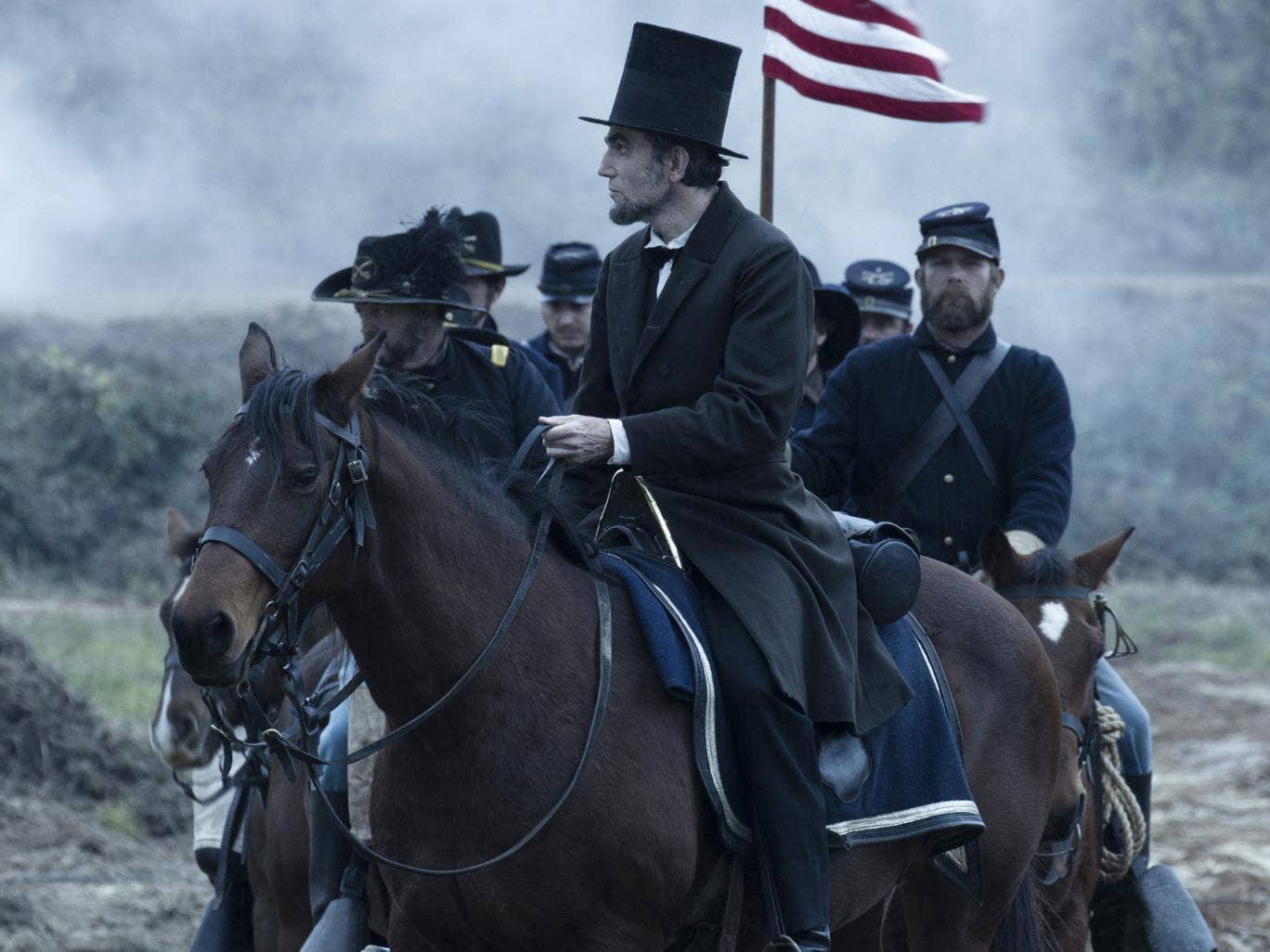 Political wiles: Daniel Day-Lewis as Lincoln, who could handle the opposition