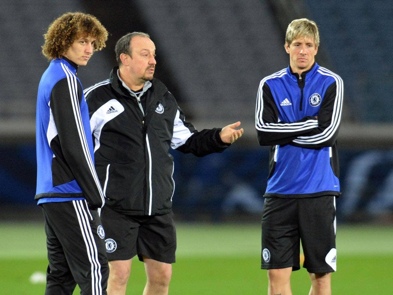 Pat on the back: Nevin rates David Luiz (left) highly as a central midfielder and reckons Fernando Torres (right) still has much to offer