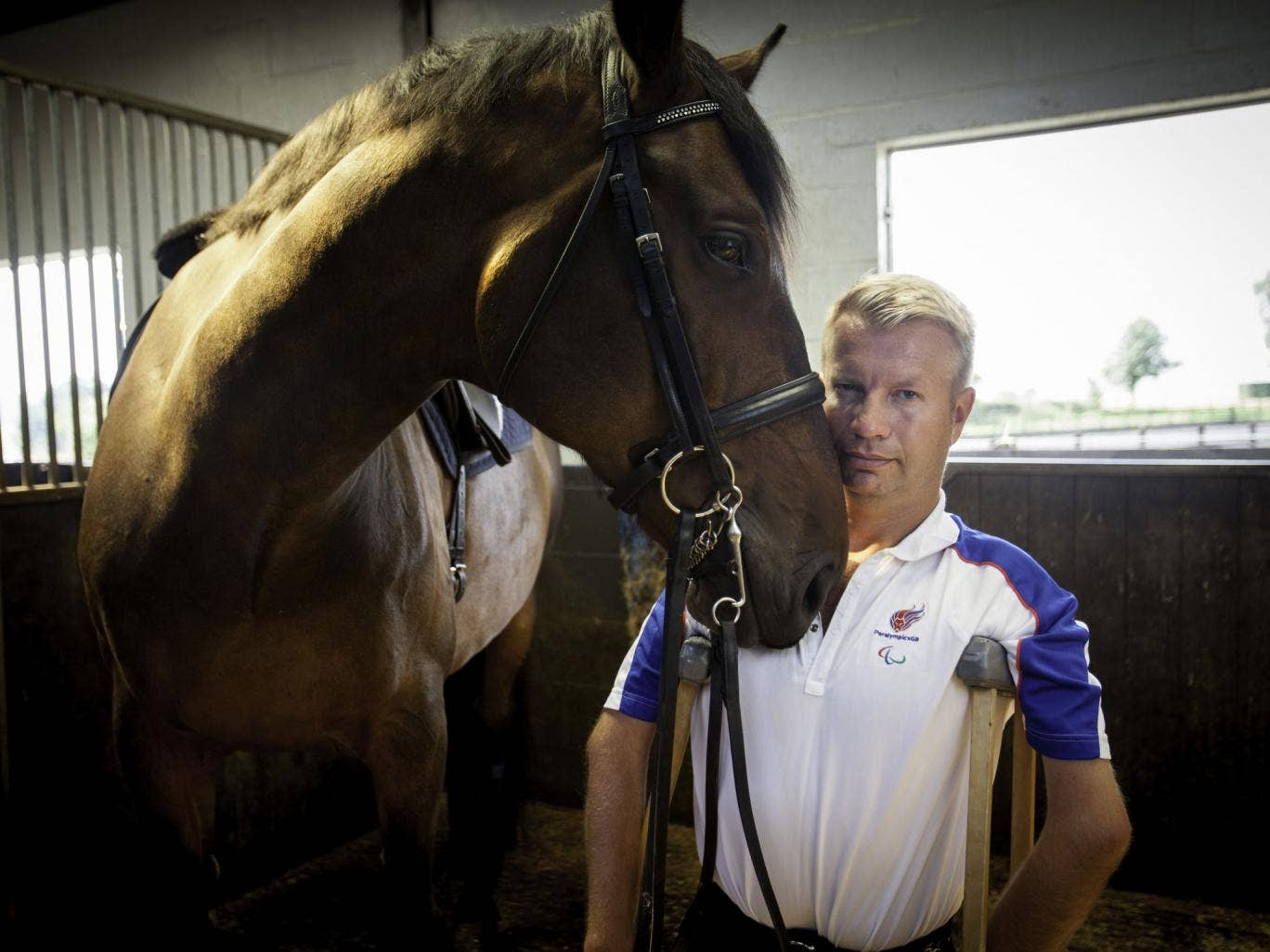 Paralympian dressage rider Lee Pearson, winner of 10 golds