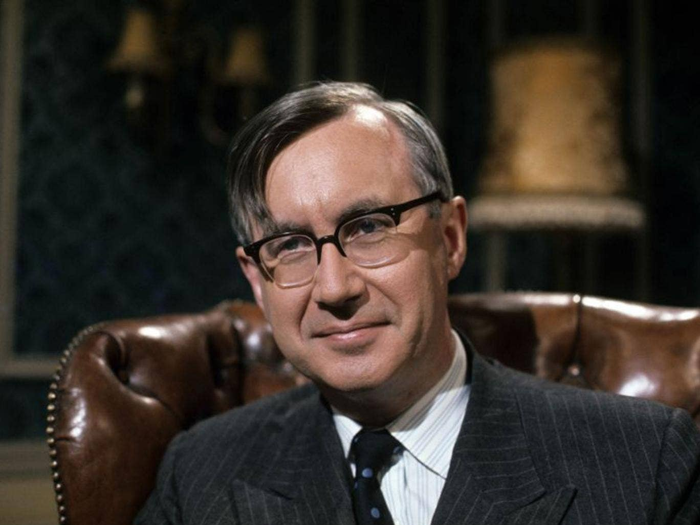 Rees-Mogg appears on TV in 1972; he later served the BBC and the Broadcasting Standards Council