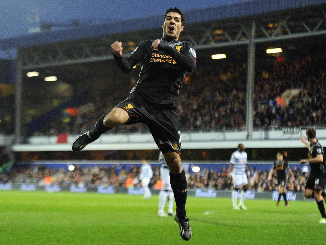 Luis Suarez celebrates his braceG