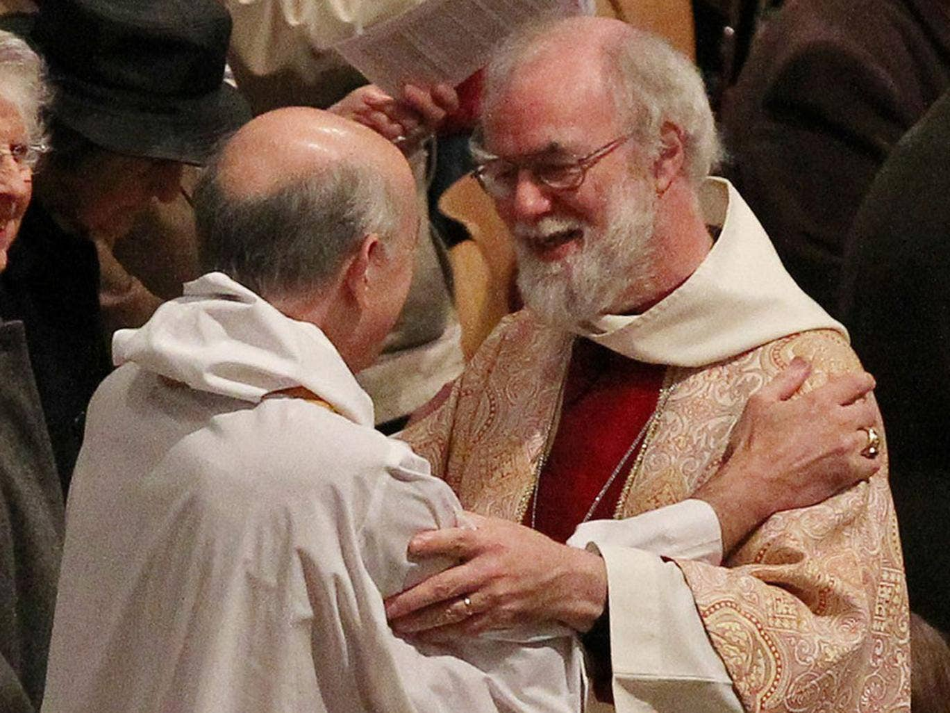 Dr Rowan Williams at Canterbury Cathedral yesterday