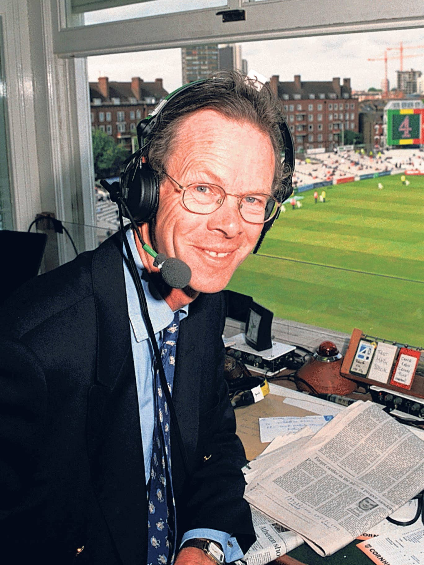 Martin-Jenkins was known as 'The Major' in the press box