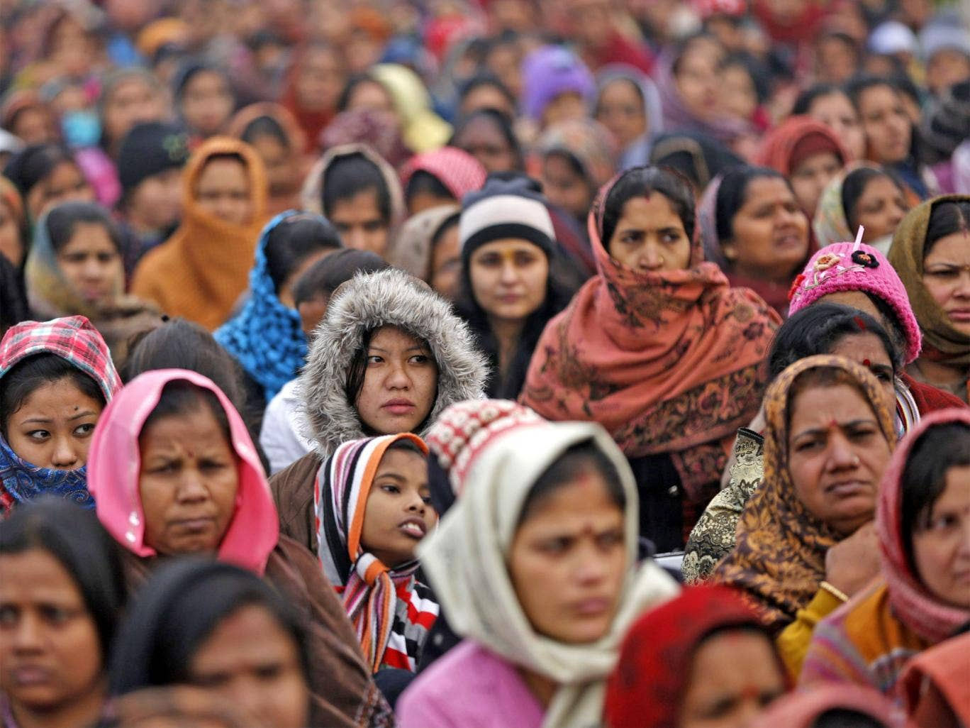 A prayer ceremony for the rape victim in New Delhi