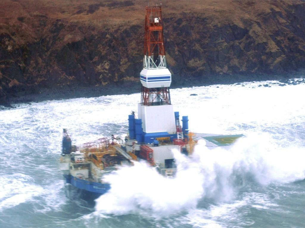 The drilling unit Kulluk ran aground near Alaska