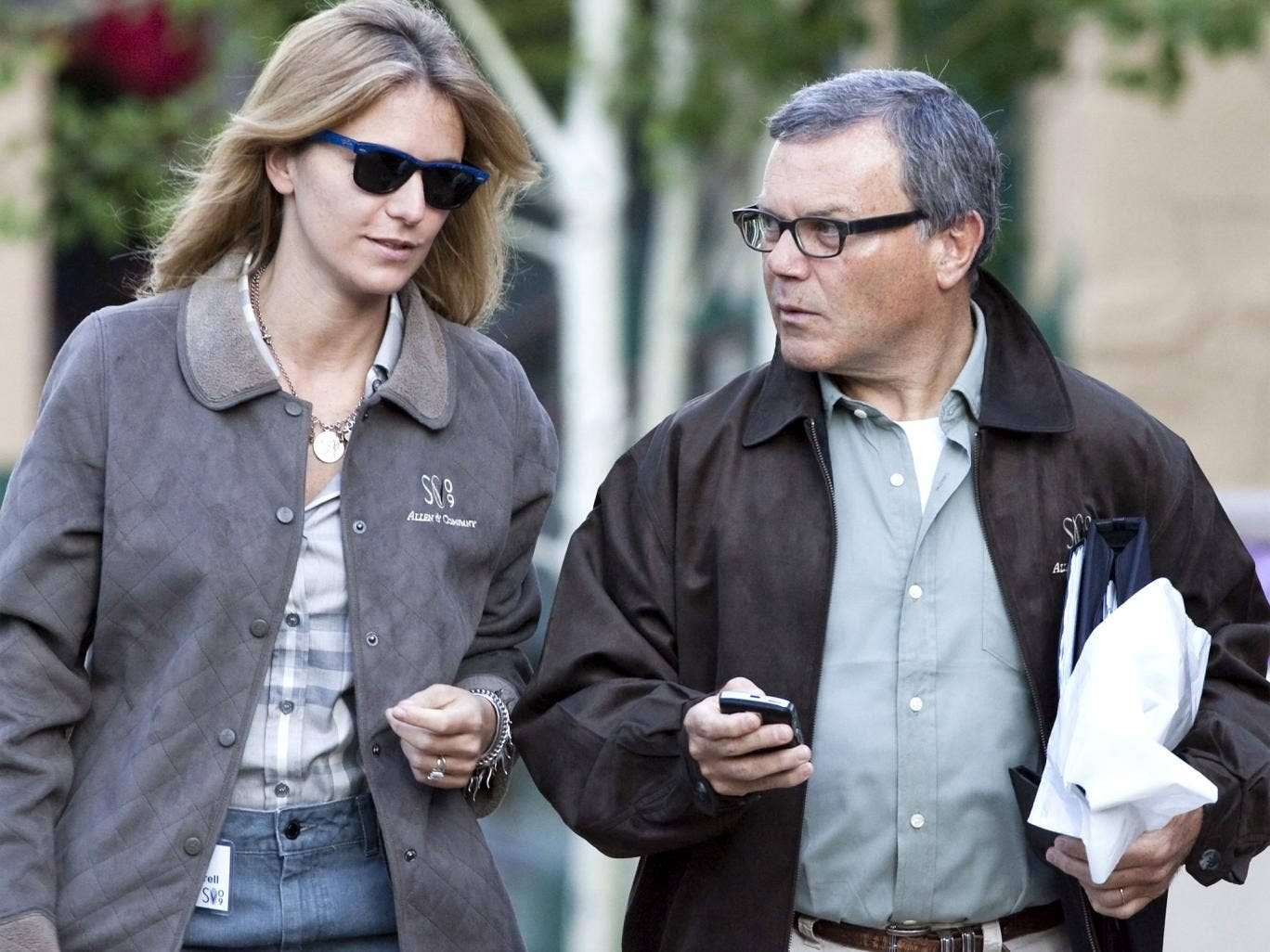 Sir Martin Sorrell pictured with his wife, Cristiana Falcone Sorrell