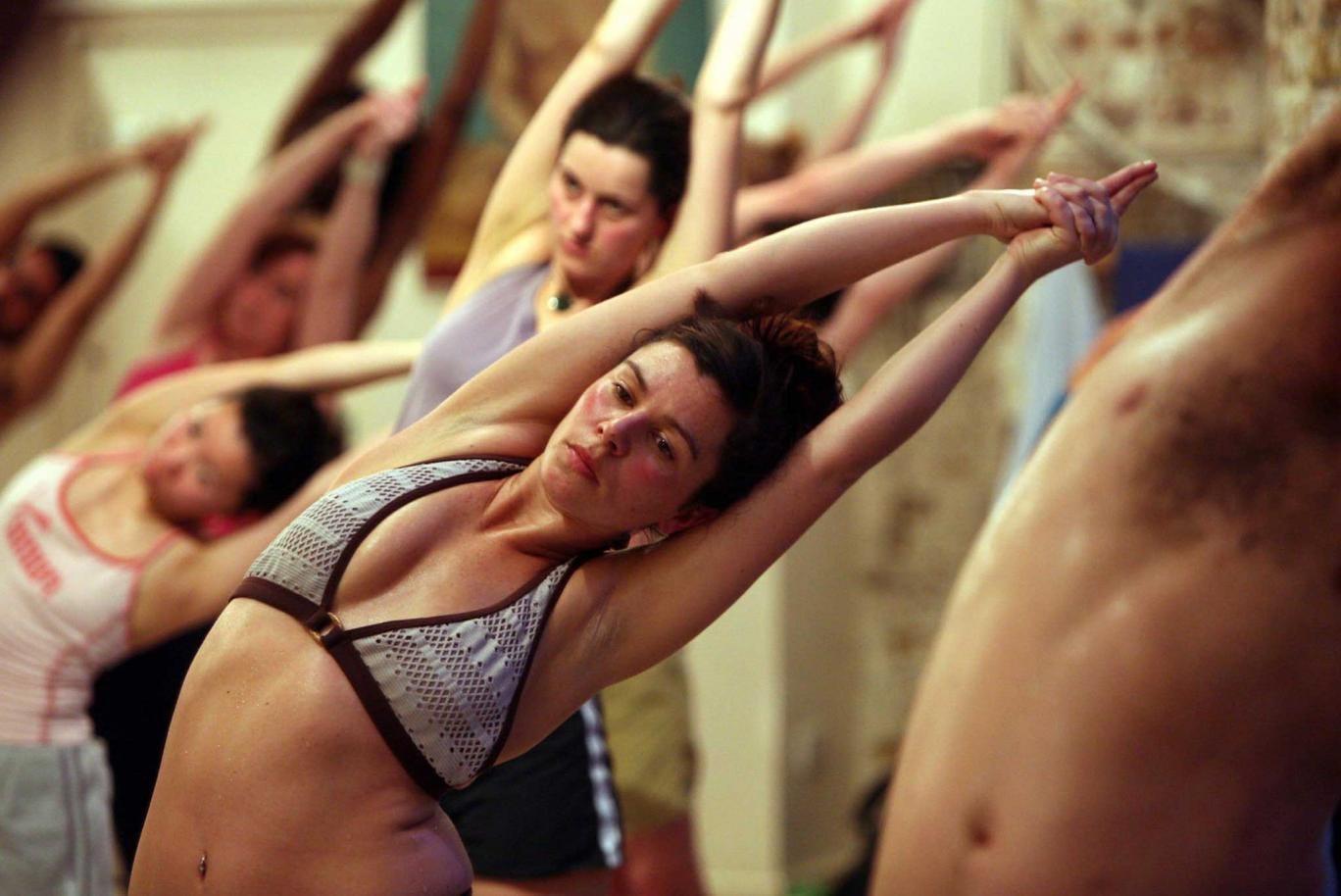 No pain, no gain: a Bikram yoga class