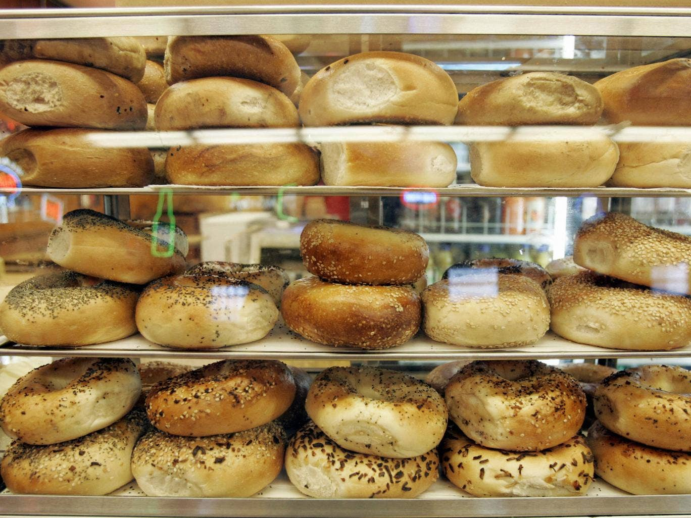 A bagel contains a whole cube of sugar