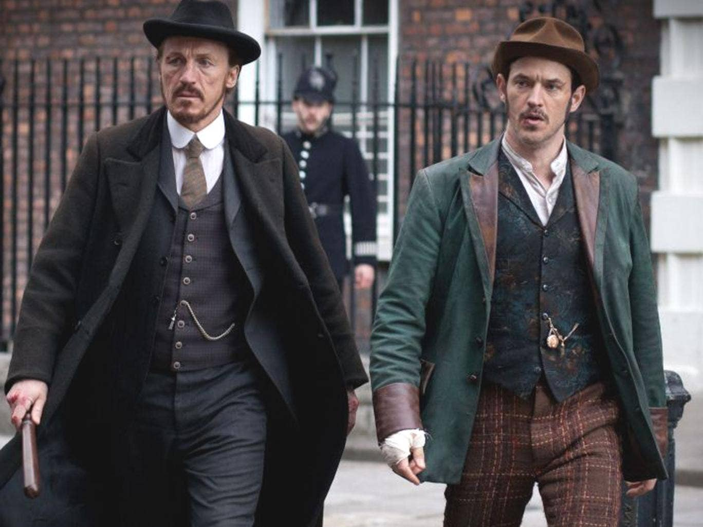 Ripping yarns: Jerome Flynn (left) and Adam Rothenberg in BBC1's new Victorian drama