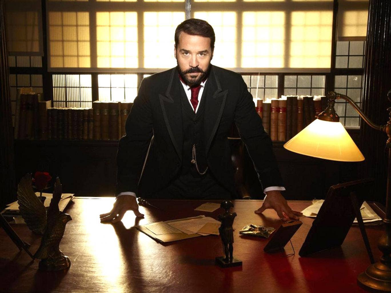 In-store entertainment: Jeremy Piven plays Harry Selfridge in ITV1's new drama Mr Selfridge