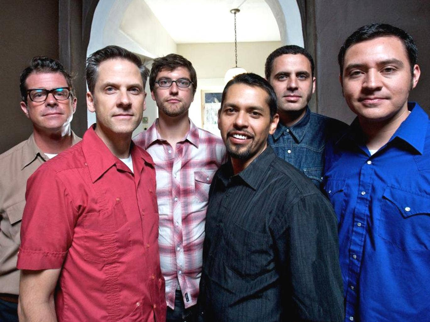 Six of the best: Calexico, with founder members John Convertino (far left) and Joey Burns (second left)