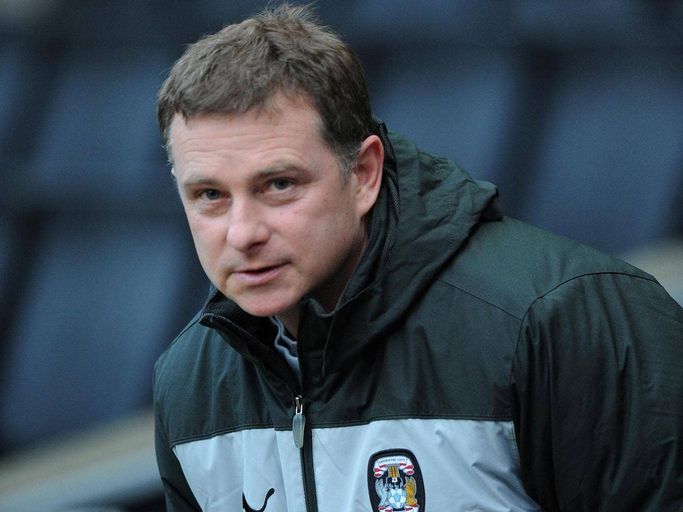 Mark Robins: The Coventry manager will  hoping for a major upset against Spurs