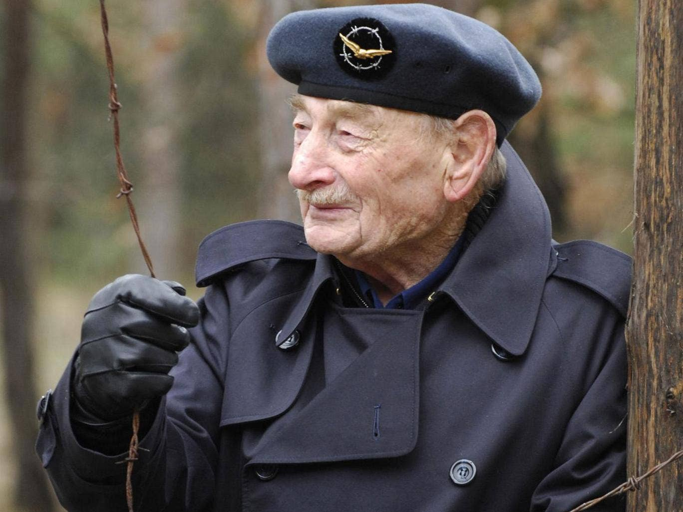 Mr Fripp at Stalag Luft III on the 65th anniversary of the Great Escape