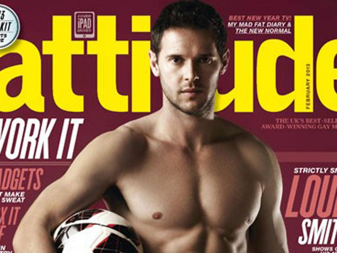 Matt Jarvis poses on the cover of 'Attitude' magazine