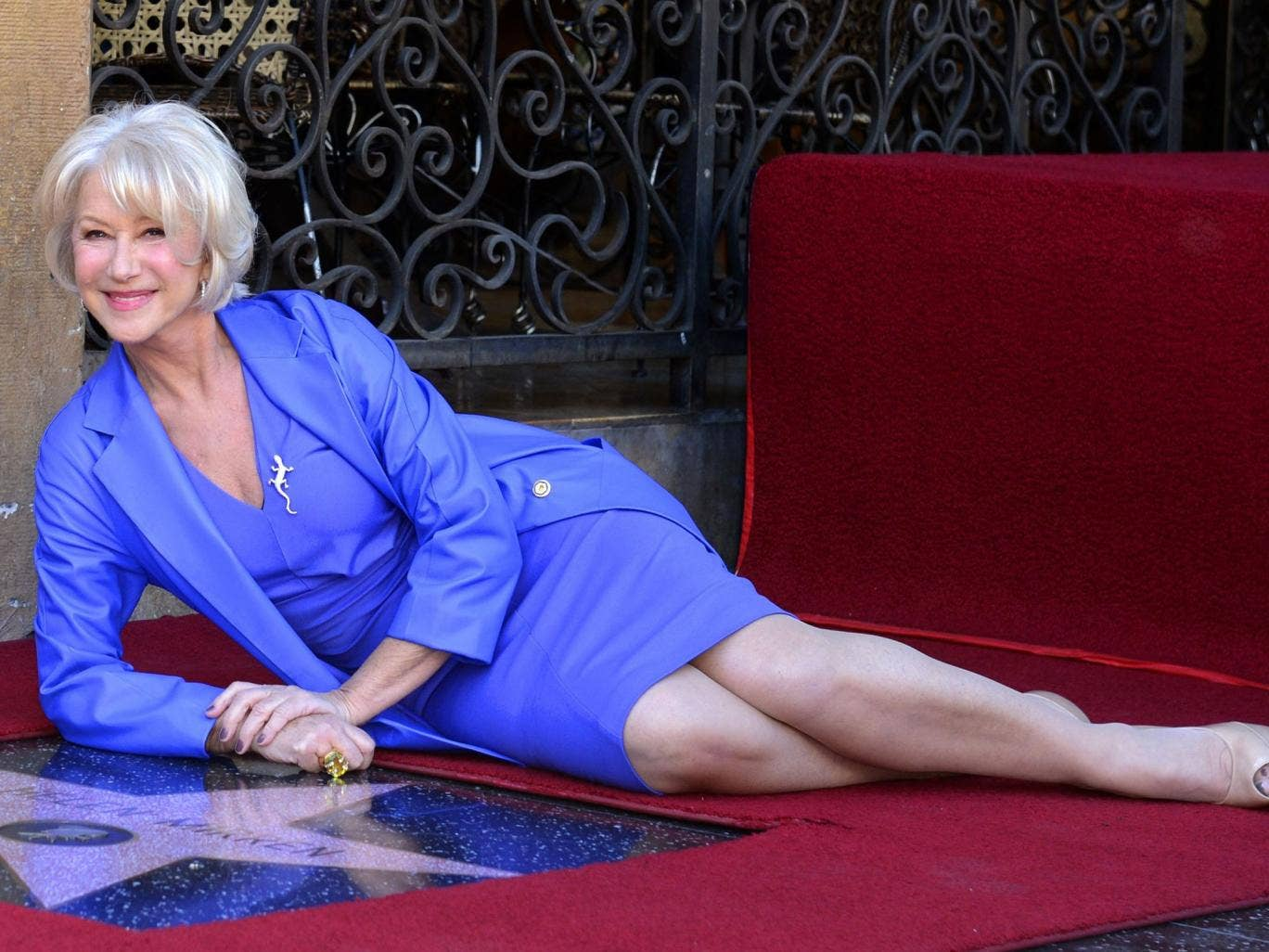 Helen Mirren was honoured on the Hollywood Walk Of Fame with a star