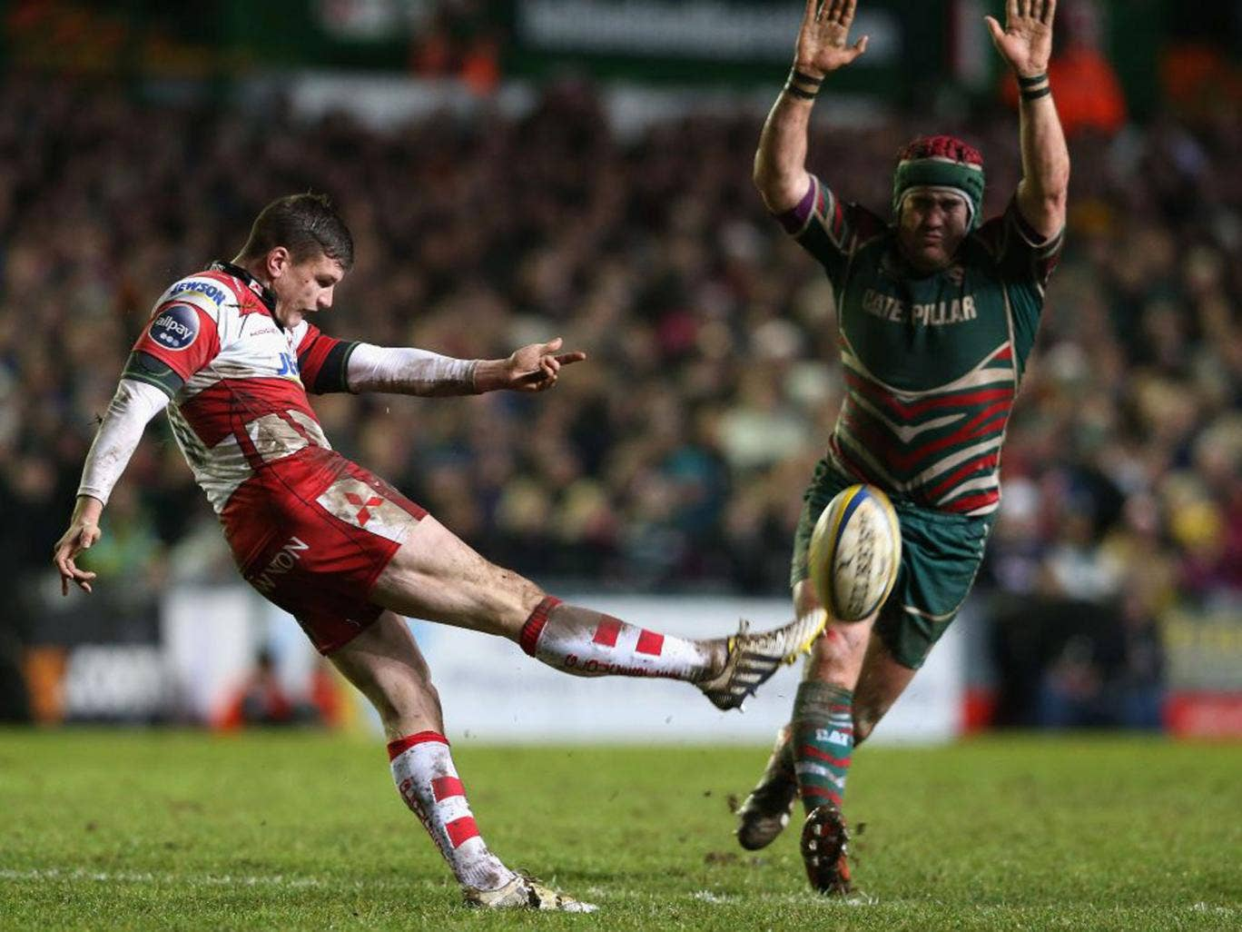 Freddie Burns (left) is closing in on a place in England's Six Nations squad