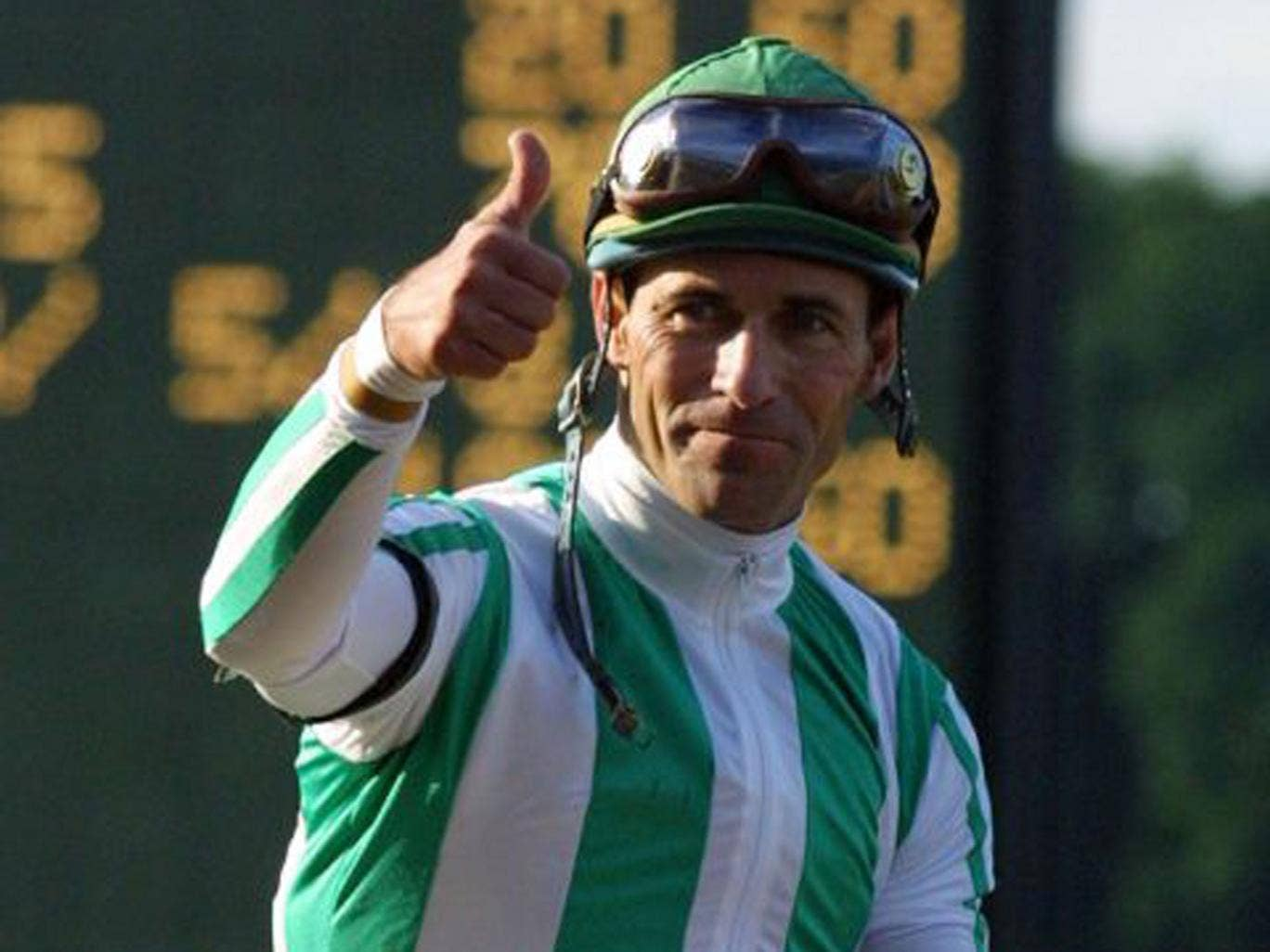 US jockey Gary Stevens, pictured here back in 2001, is set to to race again at the age of 49