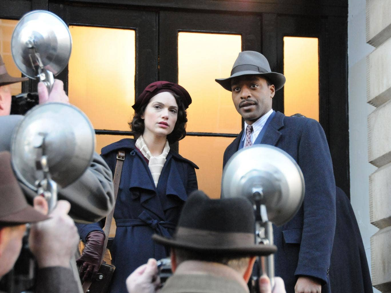 All that jazz: Thirties drama Dancing On The Edge stars Janet Montgomery (Sarah) and Chiwetel Ejiofor (Louis Lester)