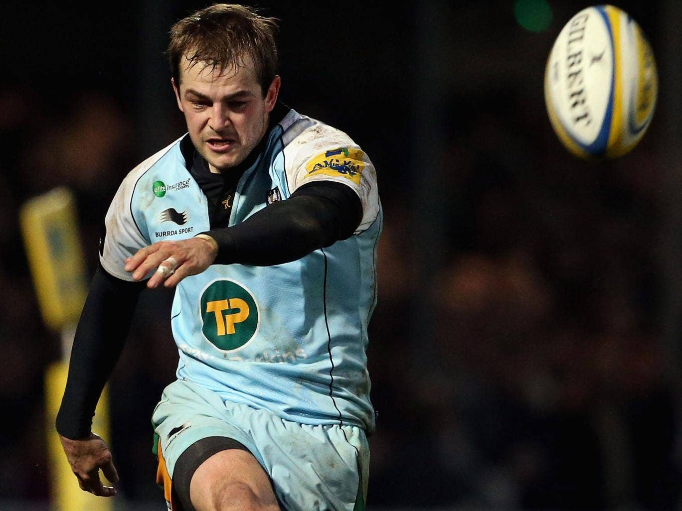 Exeter kicked three penalties to one by Stephen Myler (pictured)