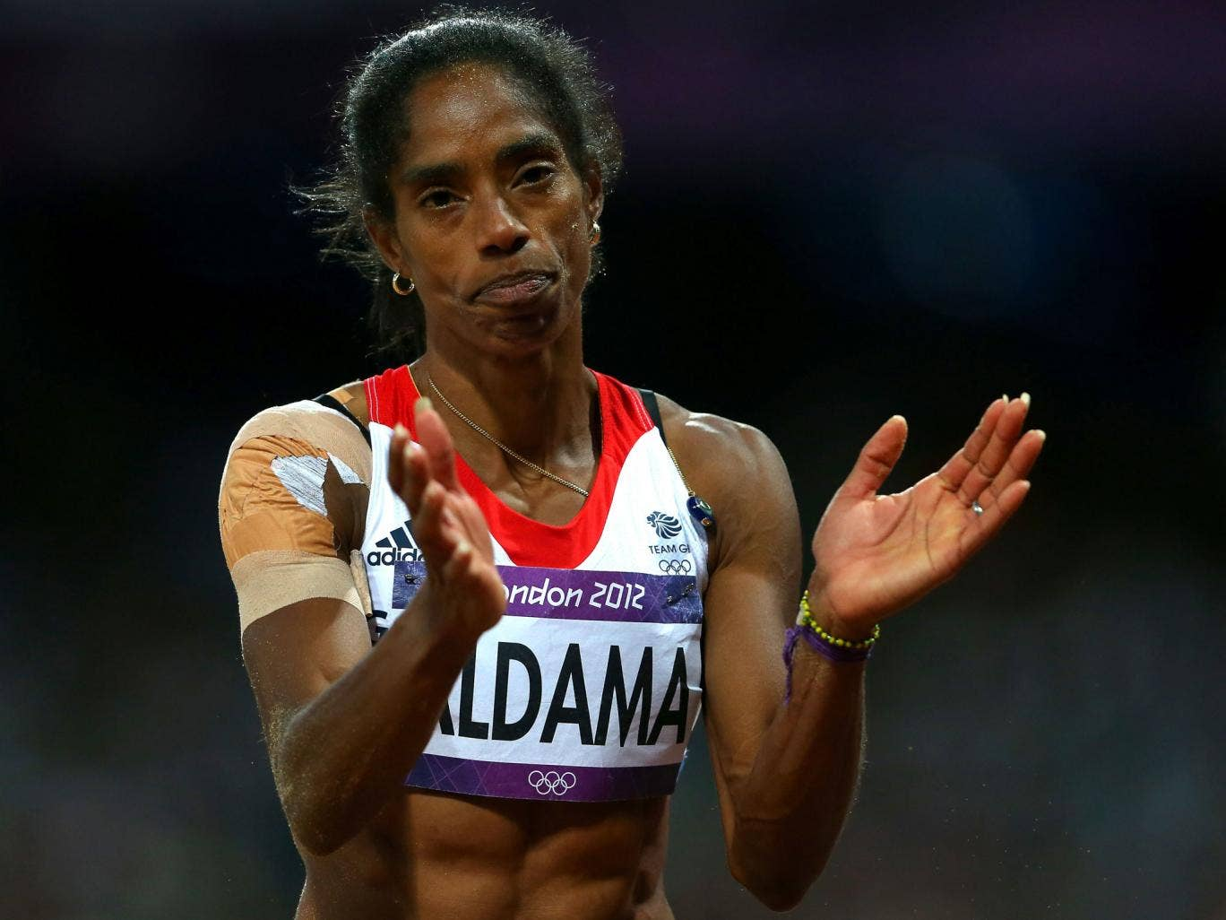 Great Scot: Yamilé Aldama is set to represent her fourth country