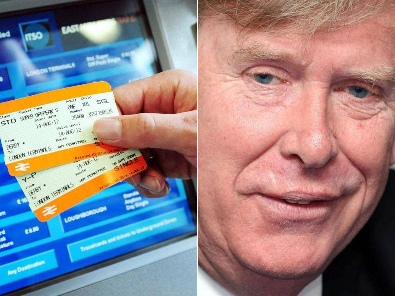 The minister responsible for rail fares, Simon Burns, is under fire today after it emerged that he commutes to work using a chauffeur-driven government car.