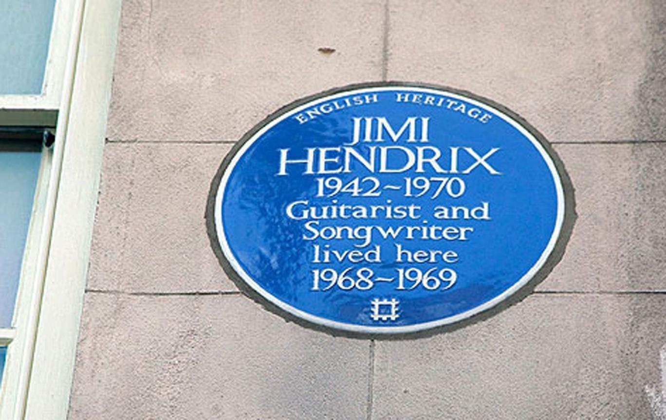 Jimi Hendrix's blue plaque