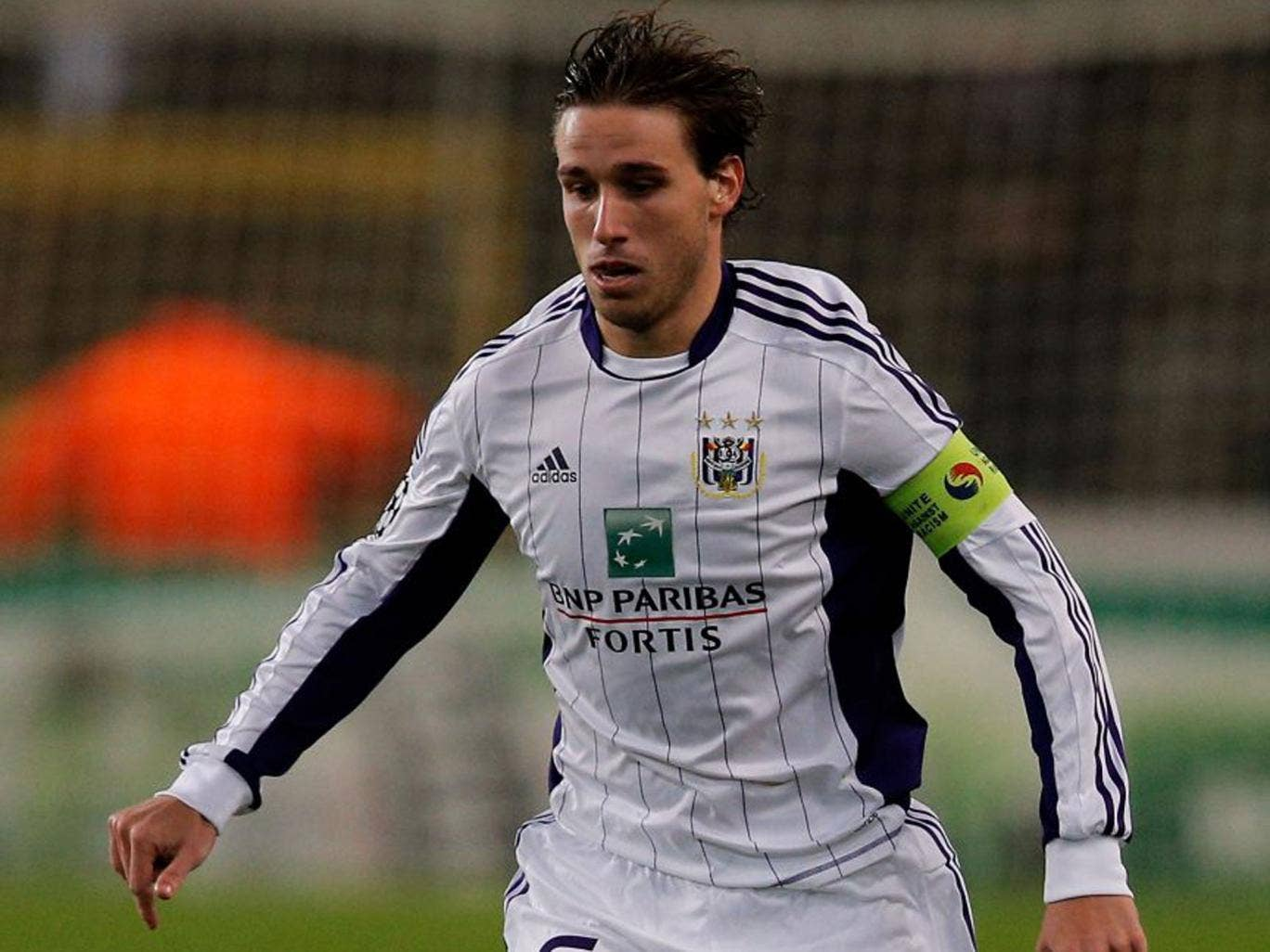 Anderlecht midfielder Lucas Biglia is being watched by Arsenal