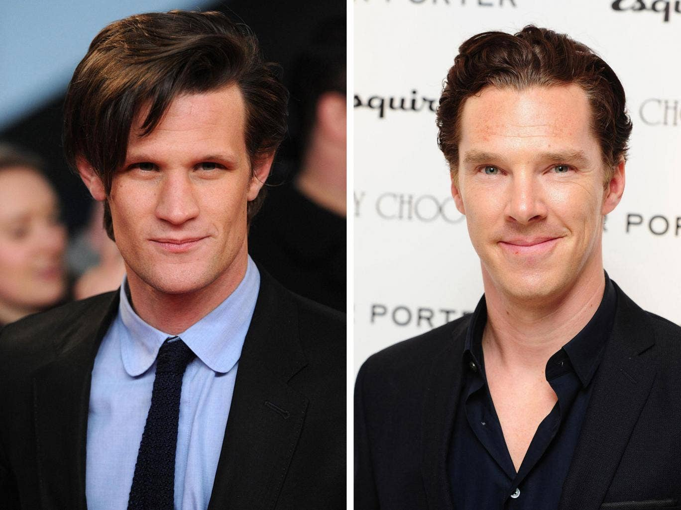 Matt Smith (left) and Benedict Cumberbatch