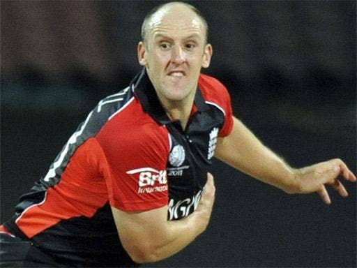James Tredwell was the pick of England's struggling bowlers