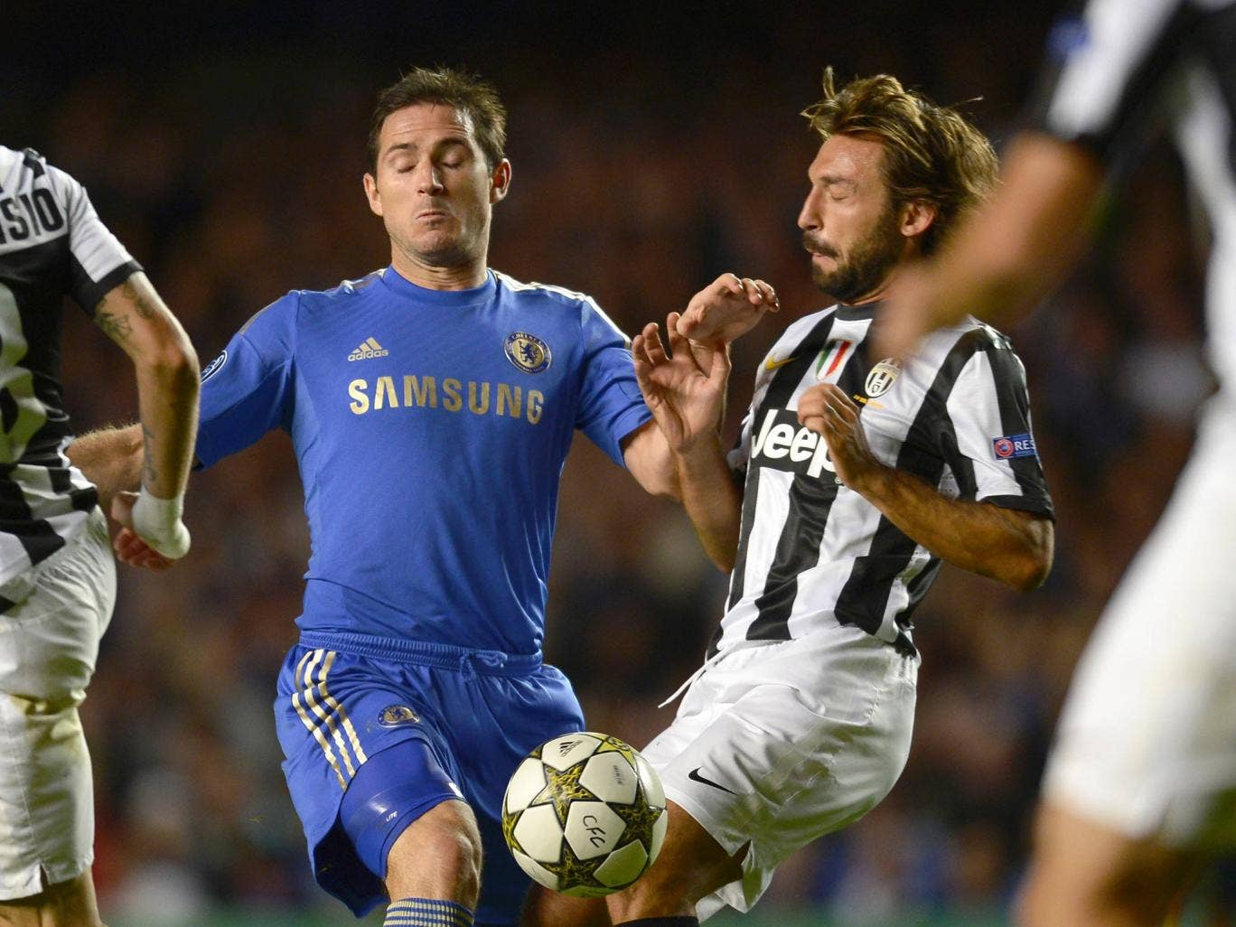 Andrea Pirlo and Frank Lampard