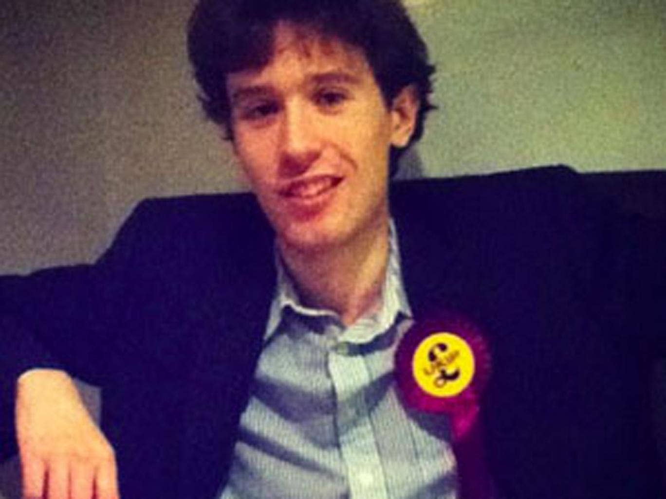 Olly Neville who was appointed as chairman of Young Independence at the end of last year