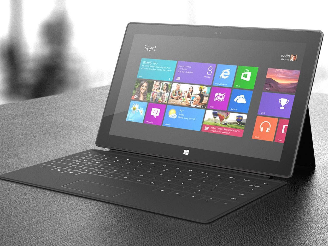 The Surface: Microsoft is hoping to own the 'tablets for typists' market