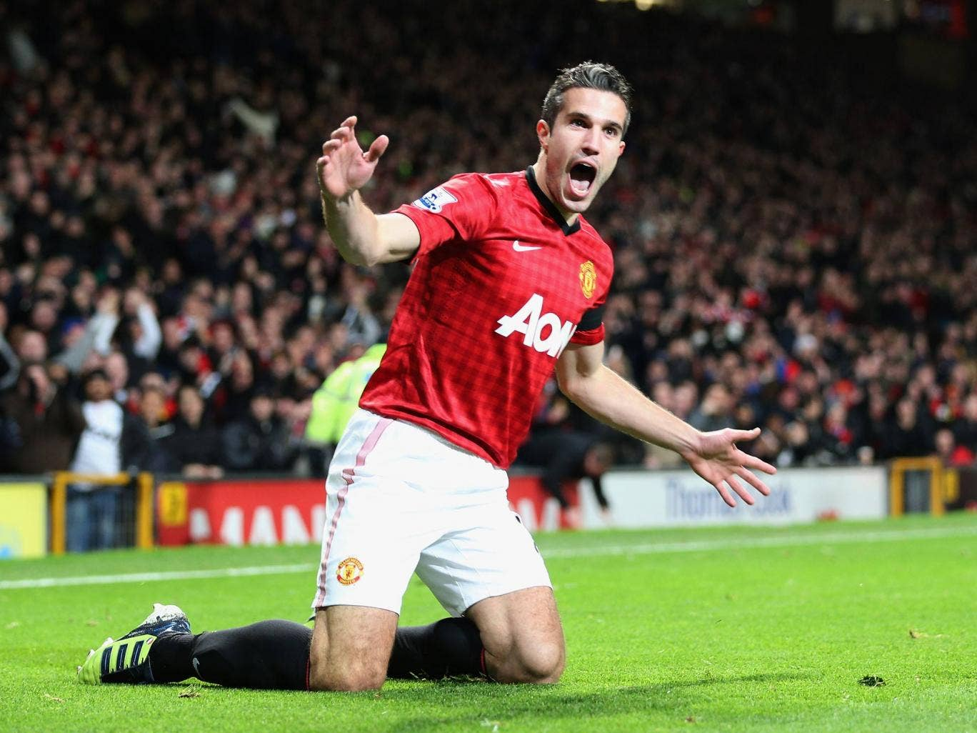 <b>Manchester United 1-0 West Ham United</b><br/> <b>28 November 2012</b><br/> <b>Premier League</b><br/>   Van Persie scored the fastest Premier League goal of the season which proved to be enough to beat West Ham at Old Trafford. The Dutchman scored his