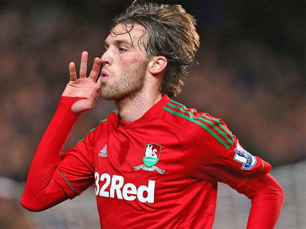 Goal-machine Michu struck once again for Swansea
