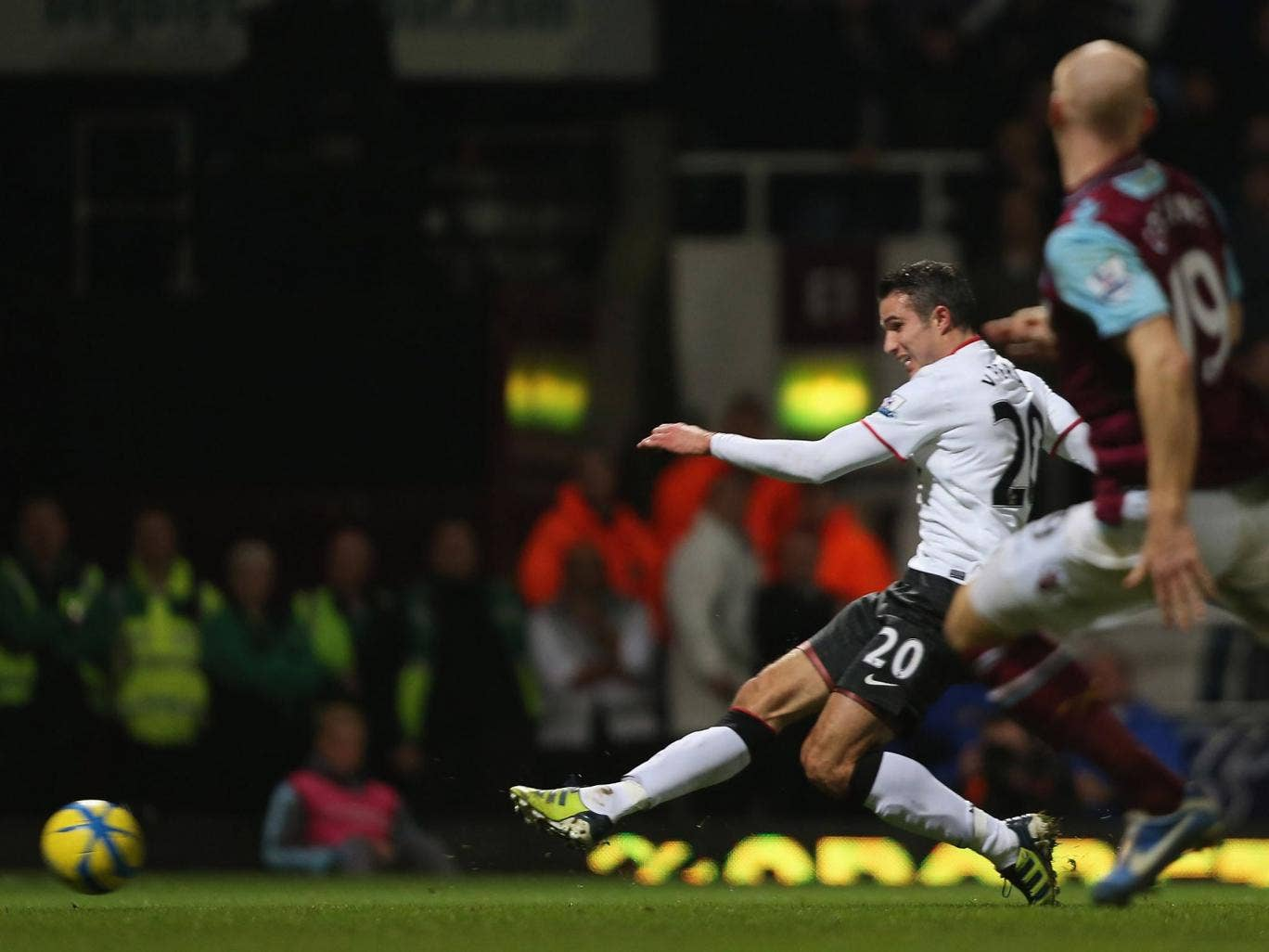 <b>West Ham United 2-2 Manchester United </b><br/> <b>5 January 2013</b><br/> <b>FA Cup </b><br/>  Van Persie came off the bench to score a stoppage time equaliser and keep Manchester United's hopes of winning their first FA Cup since 2004 alive. Ferguson