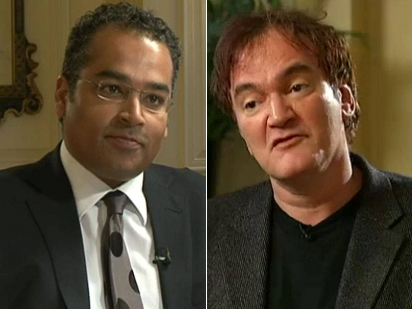uentin Tarantino refuses to discuss any link between movie violence and real life violence during a heated interview with Krishnan Guru-Murthy about his latest film Django Unchained