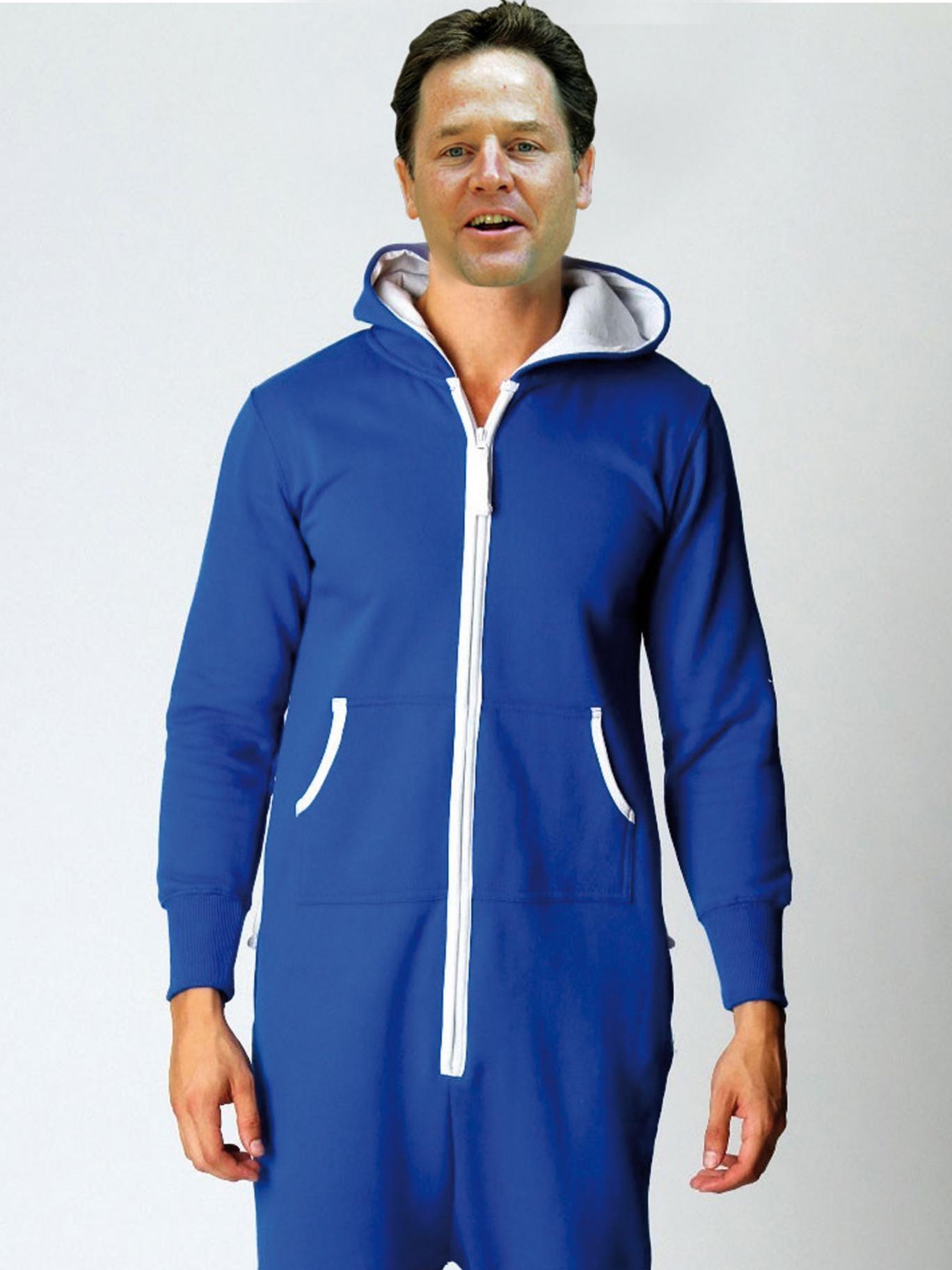 Clegg in a onesie
